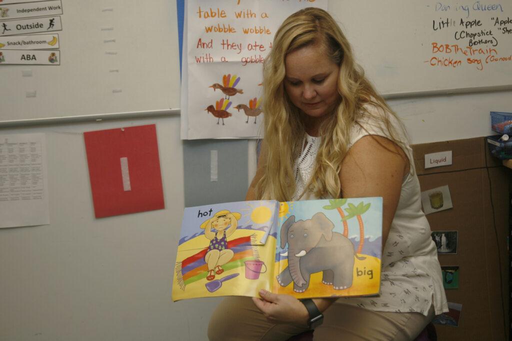 Kelly reading book